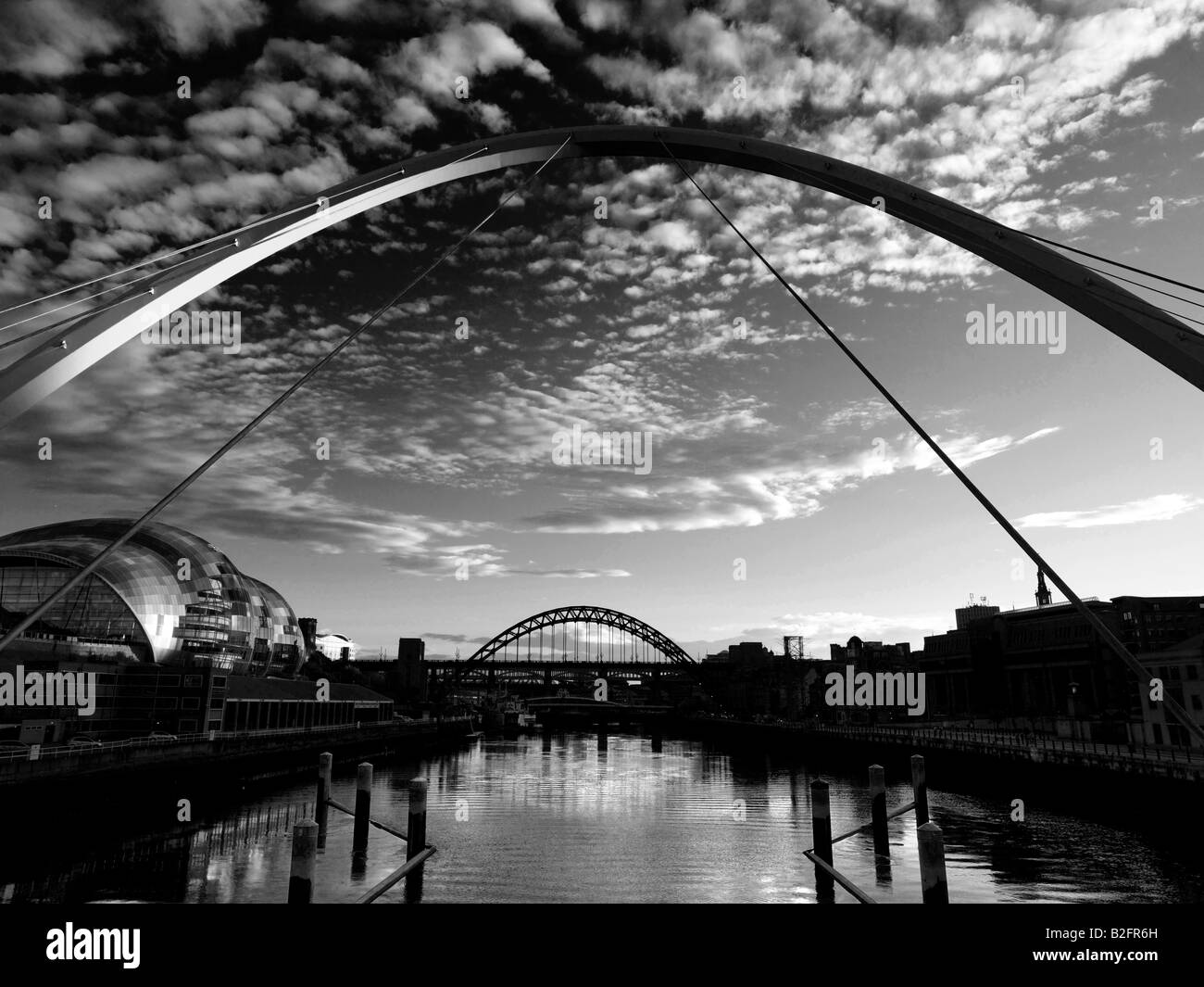 Newcastle upon tyne england stock image