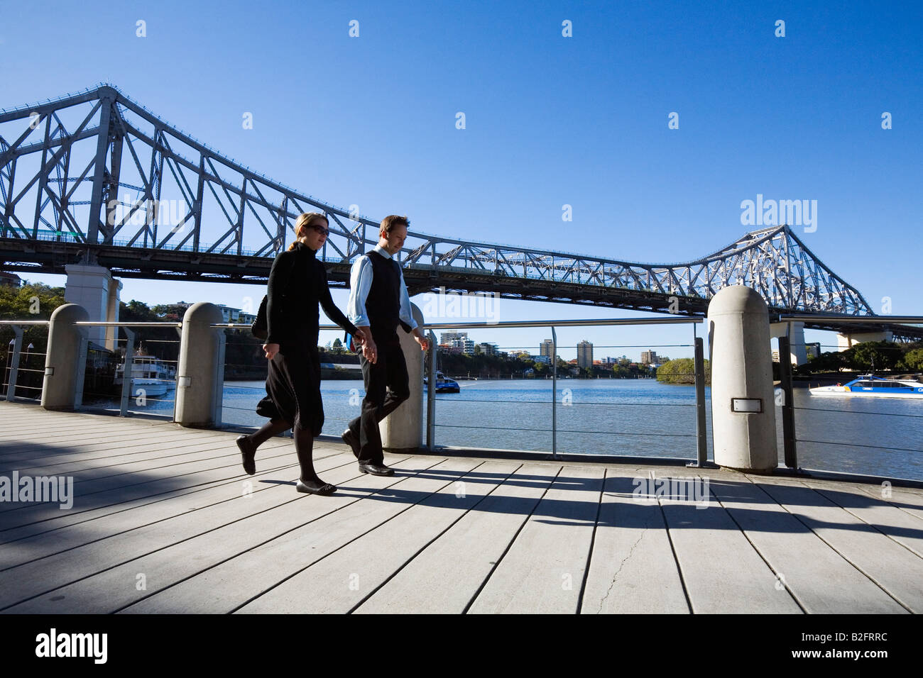 Brisbane riverside - Brisbane, Queensland, AUSTRALIA - Stock Image