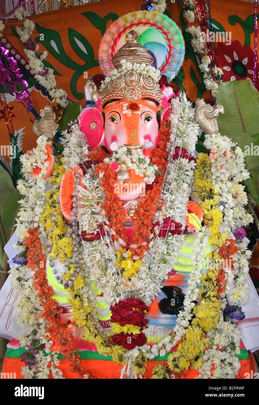 Decorated Ganesh Statue Ganesh Chaturthi Festival India Stock