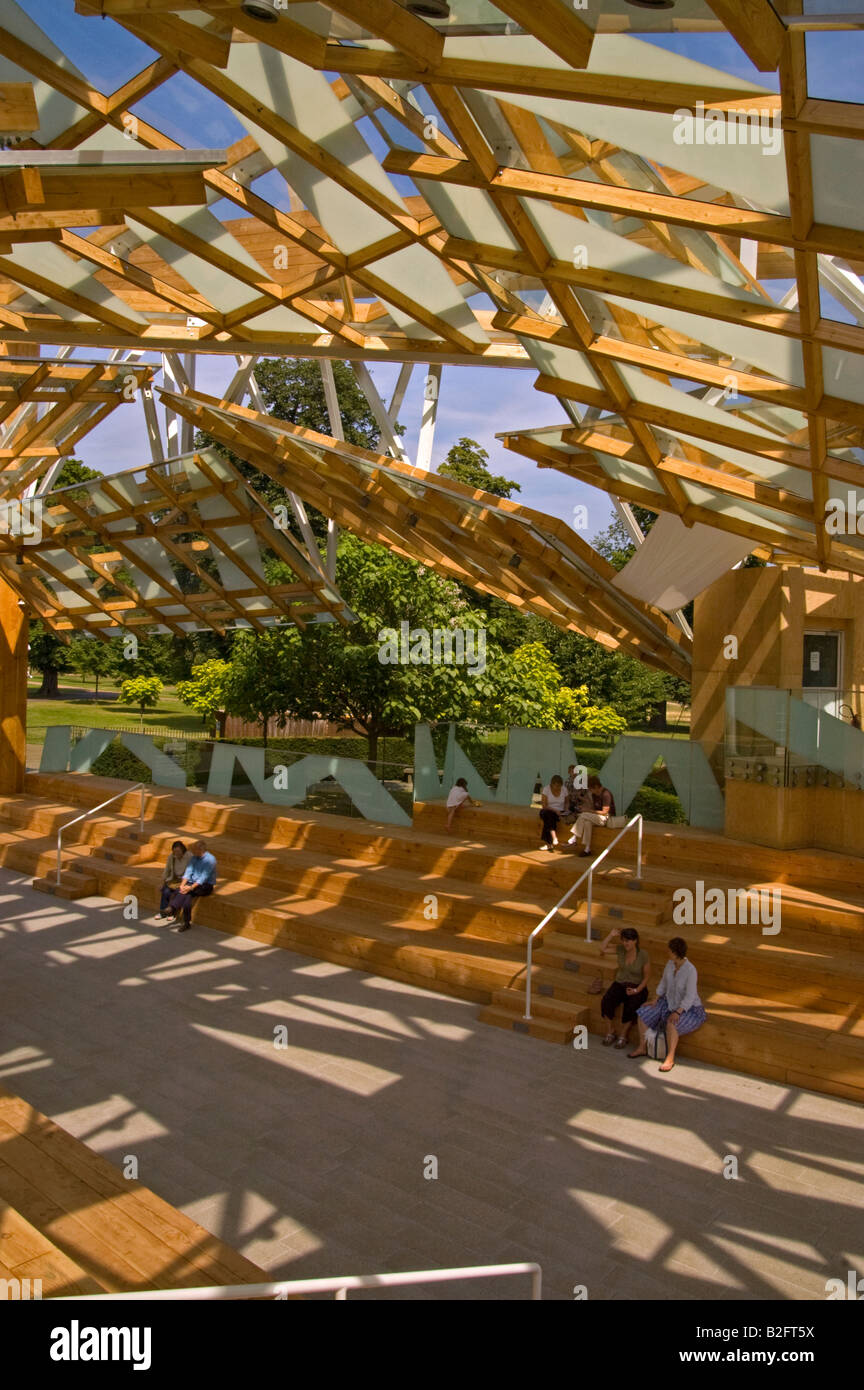The Serpentine Gallery Pavilion 2008 by Frank Gehry - Stock Image