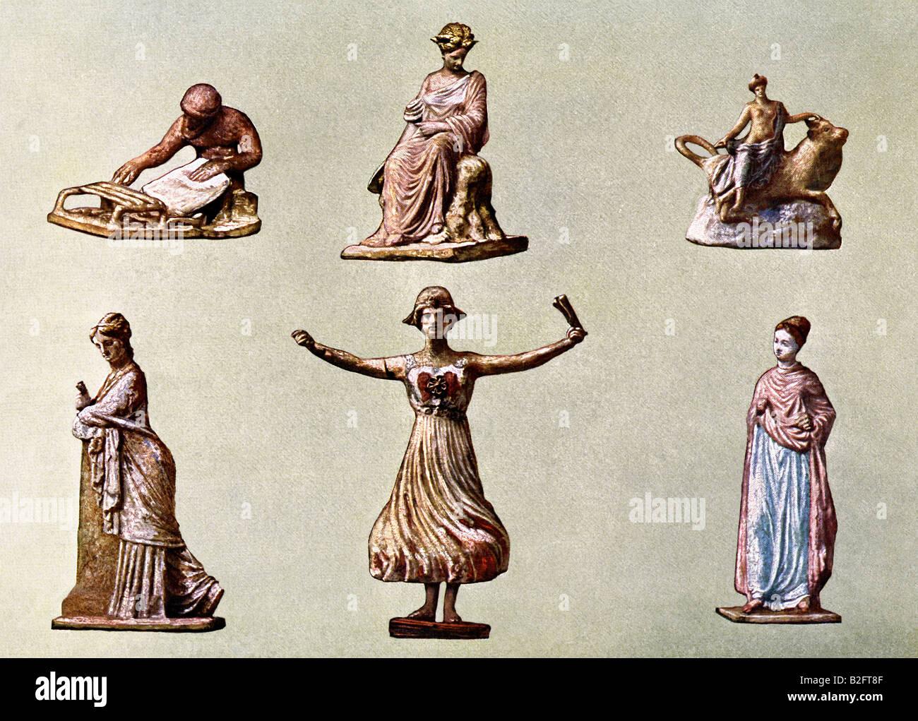 Painted Greek Figurines - Stock Image