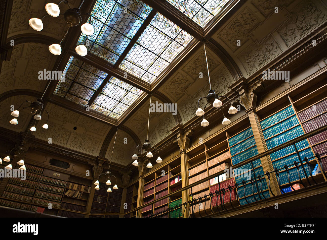 Toronto Osgoode Hall American Law Library interior - Stock Image