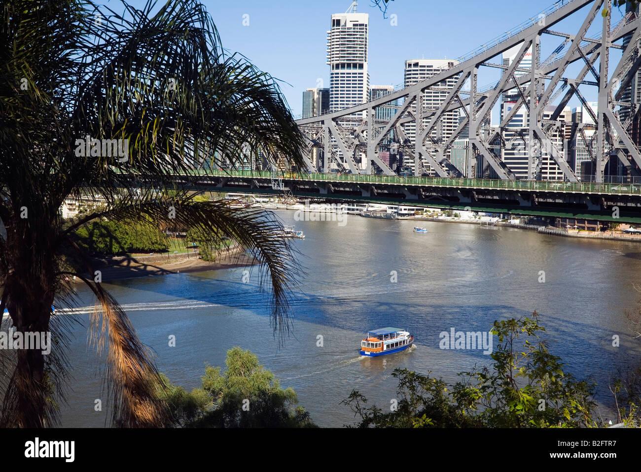 Story Bridge in Brisbane, Queensland, AUSTRALIA - Stock Image