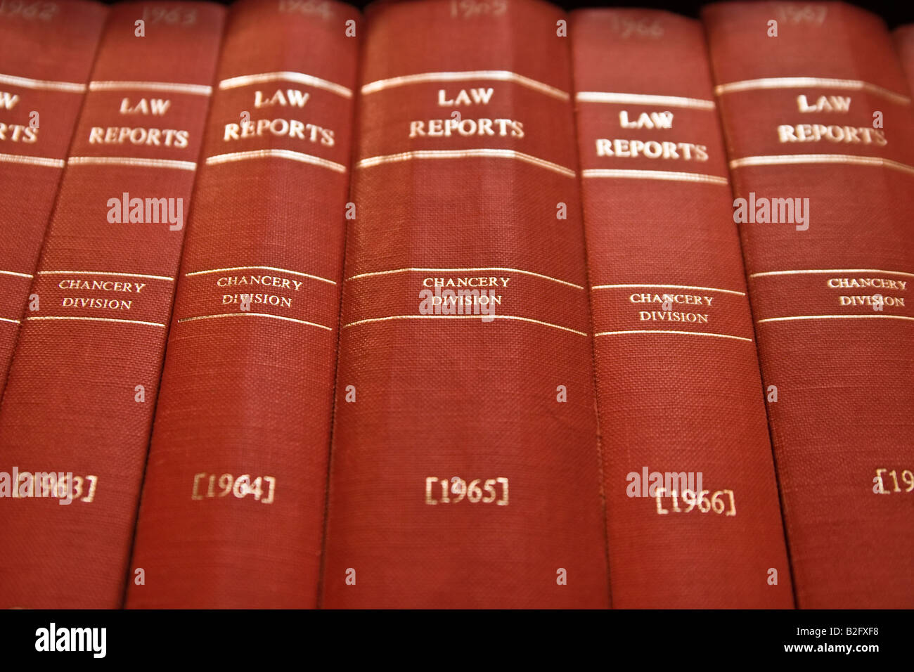 Law Reports books on shelf - Stock Image
