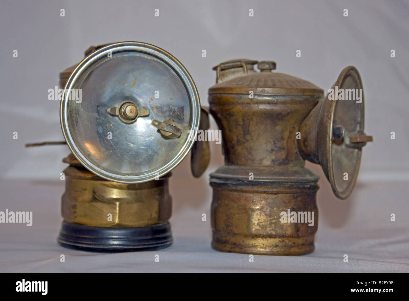 Awesome Silo Miners Carbide Lamp.   Stock Image