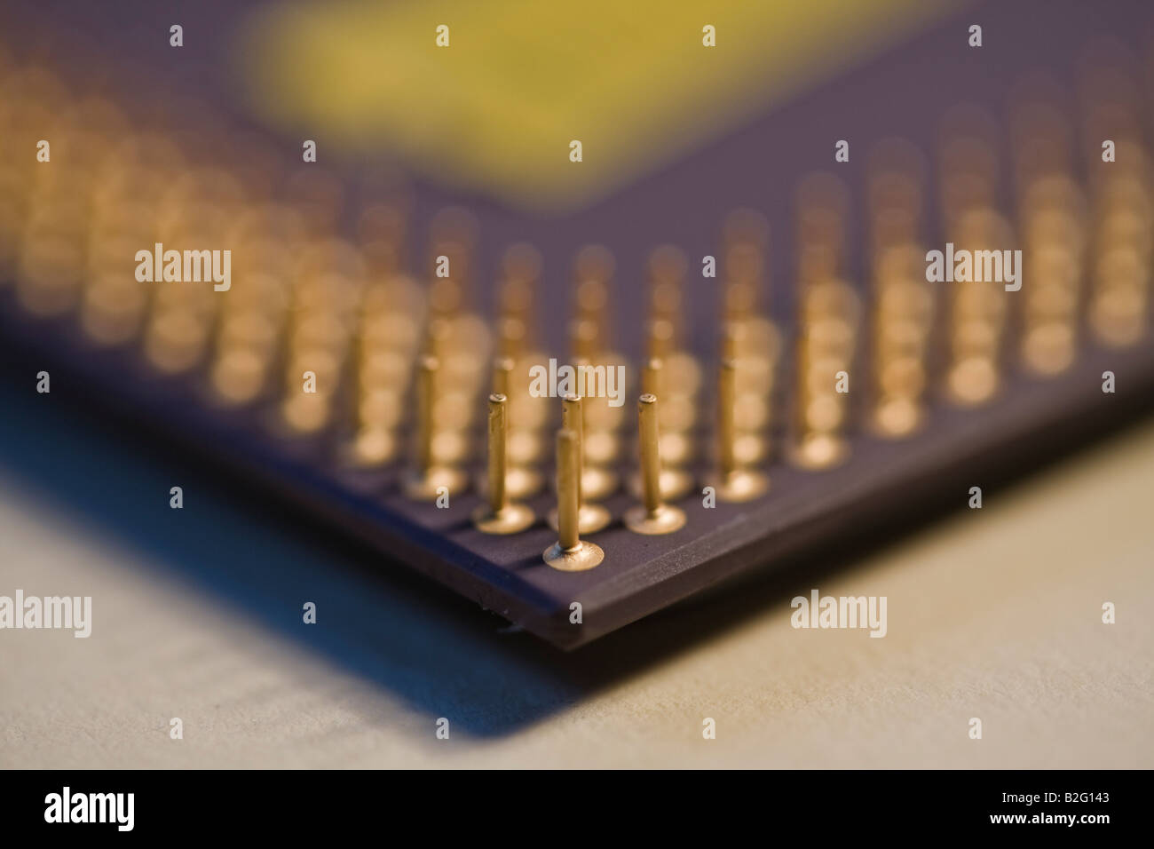 CPU,AMD Pins & Contacts - Stock Image