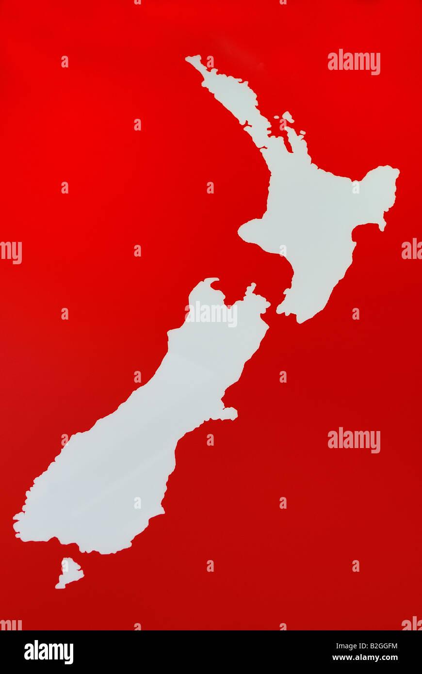 map new zealand stewart island schematische Darstellung von Stock ...