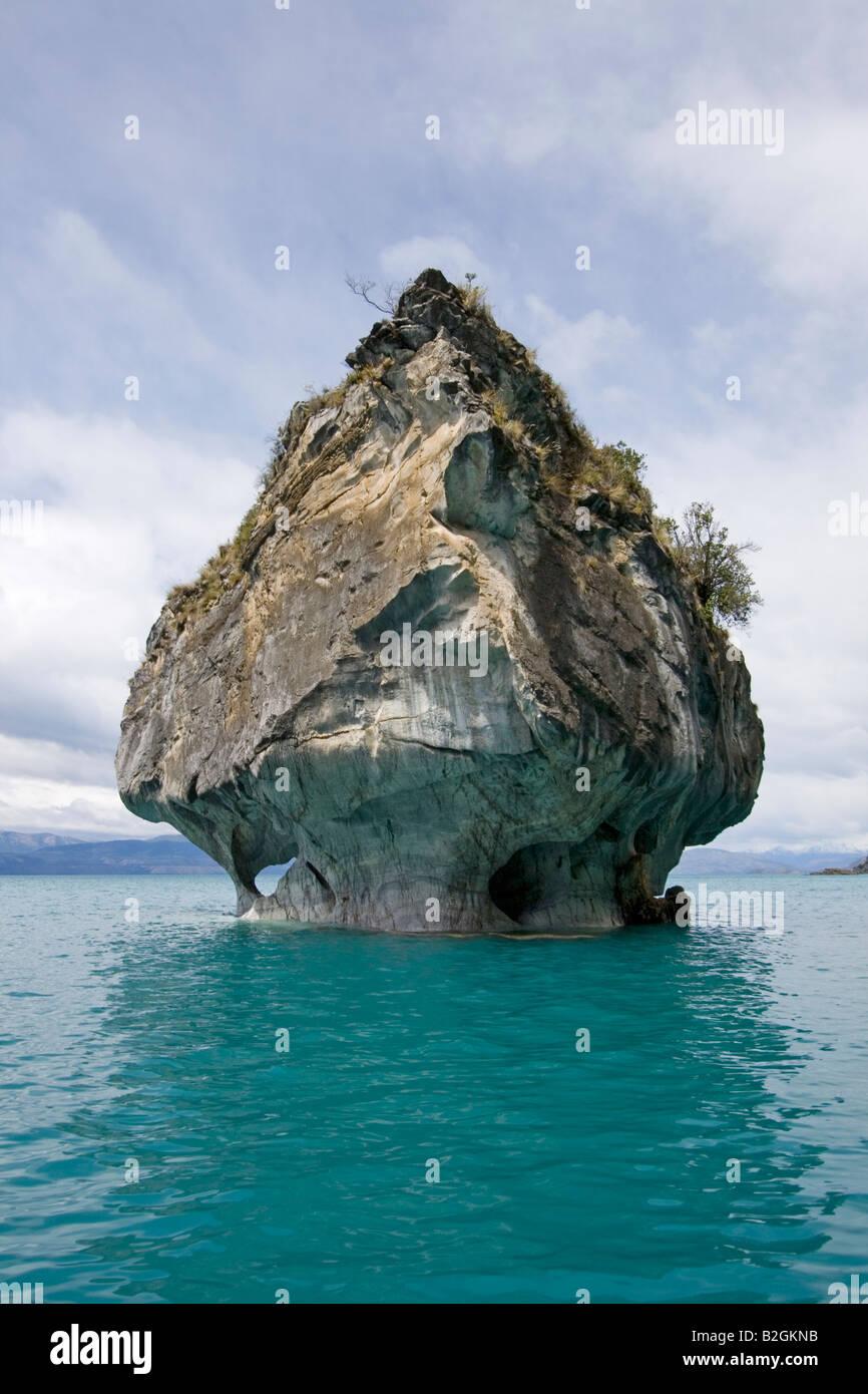 Marmorgrotte grotto general carrera chile patagonia south america sea - Stock Image