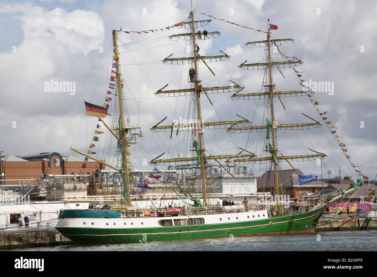 Liverpool Merseyside England UK July Alexander von Humboldt a German three masted sailing ship entrant in Tall Ships Stock Photo