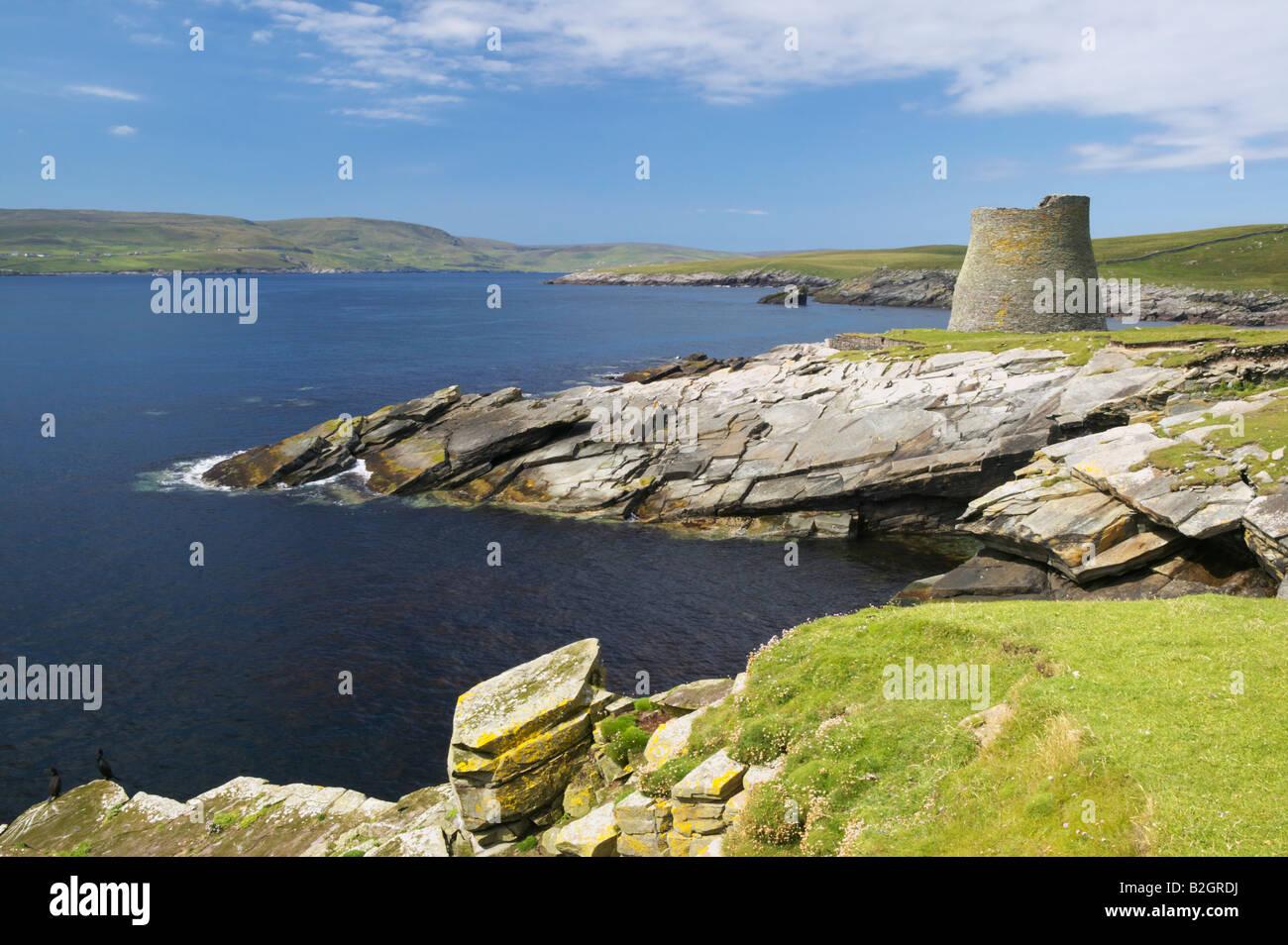 Mousa Broch, Isle of Mousa, Shetland Isles, Scotland, UK. - Stock Image