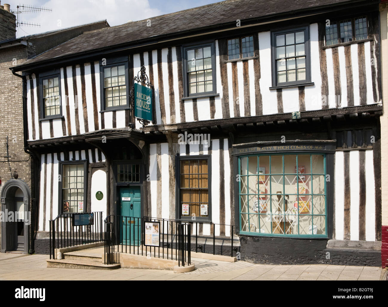 Ancient House Museum, White Hart Street, Thetford, Norfolk. UK Grade I listed. Renovated Tudor merchant's house. - Stock Image