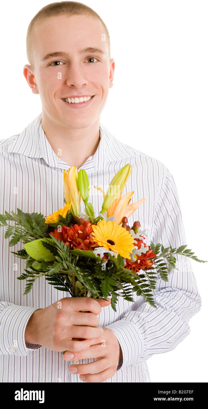 Man Flower Bouquet Icon Stock Photos Man Flower Bouquet Icon Stock