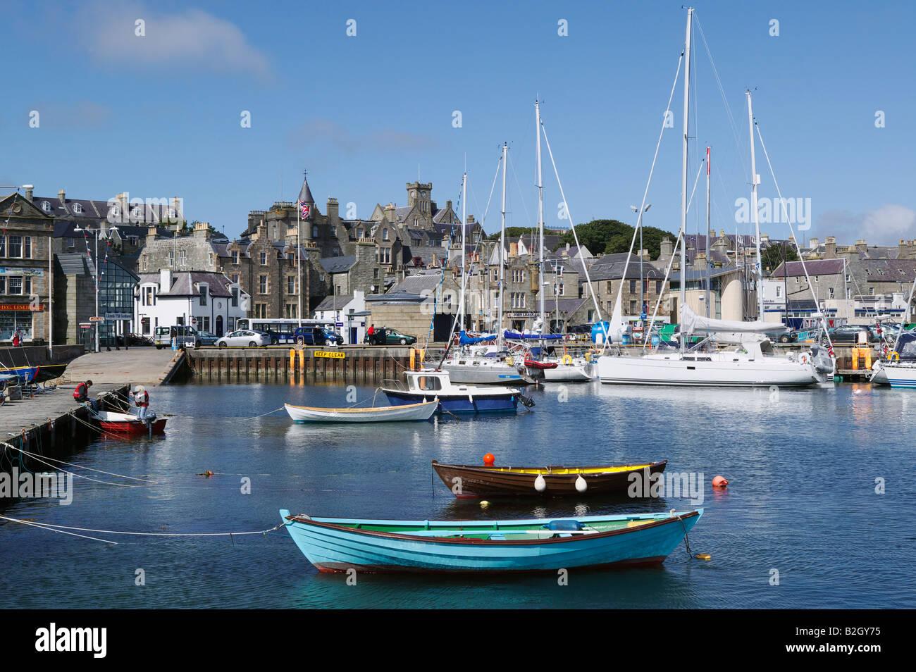 The Small Boat Harbour in Lerwick, Shetland Isles, Scotland, UK - Stock Image