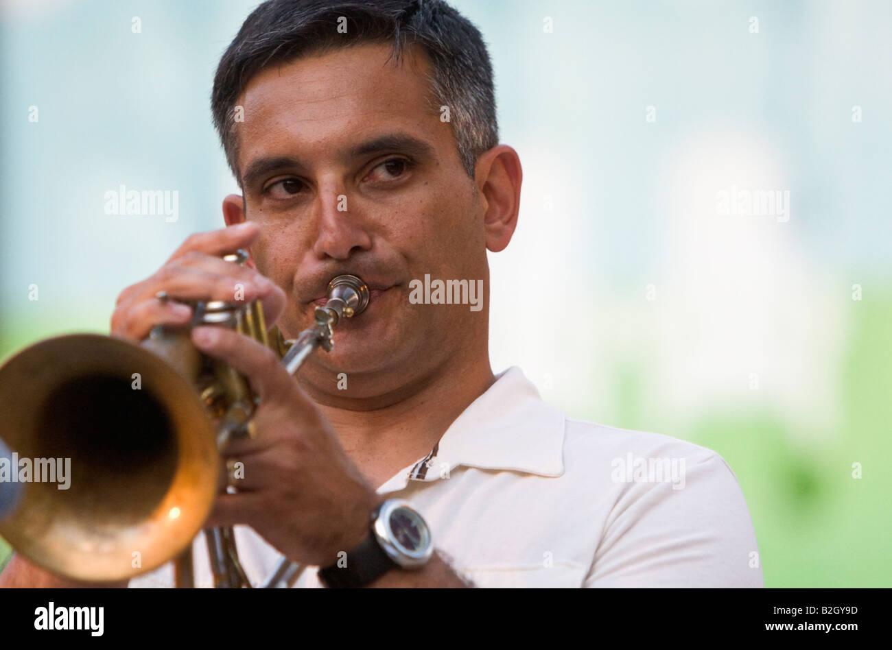 Joe Parisi performs at Jazz in June Stock Photo