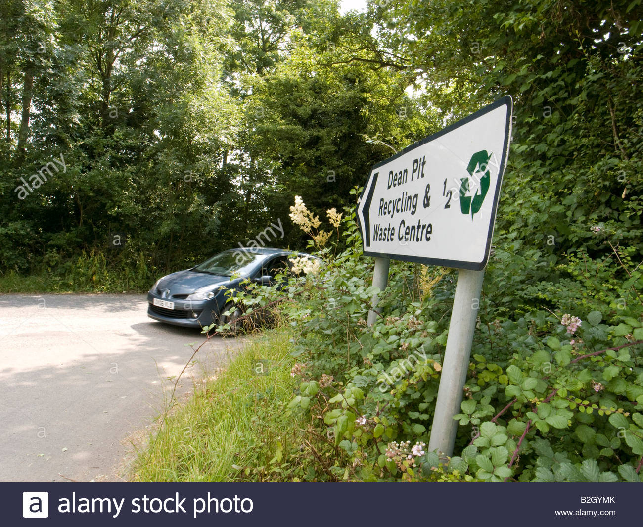 Recycling and waste centre in Dean in Oxfordshire countryside - Stock Image