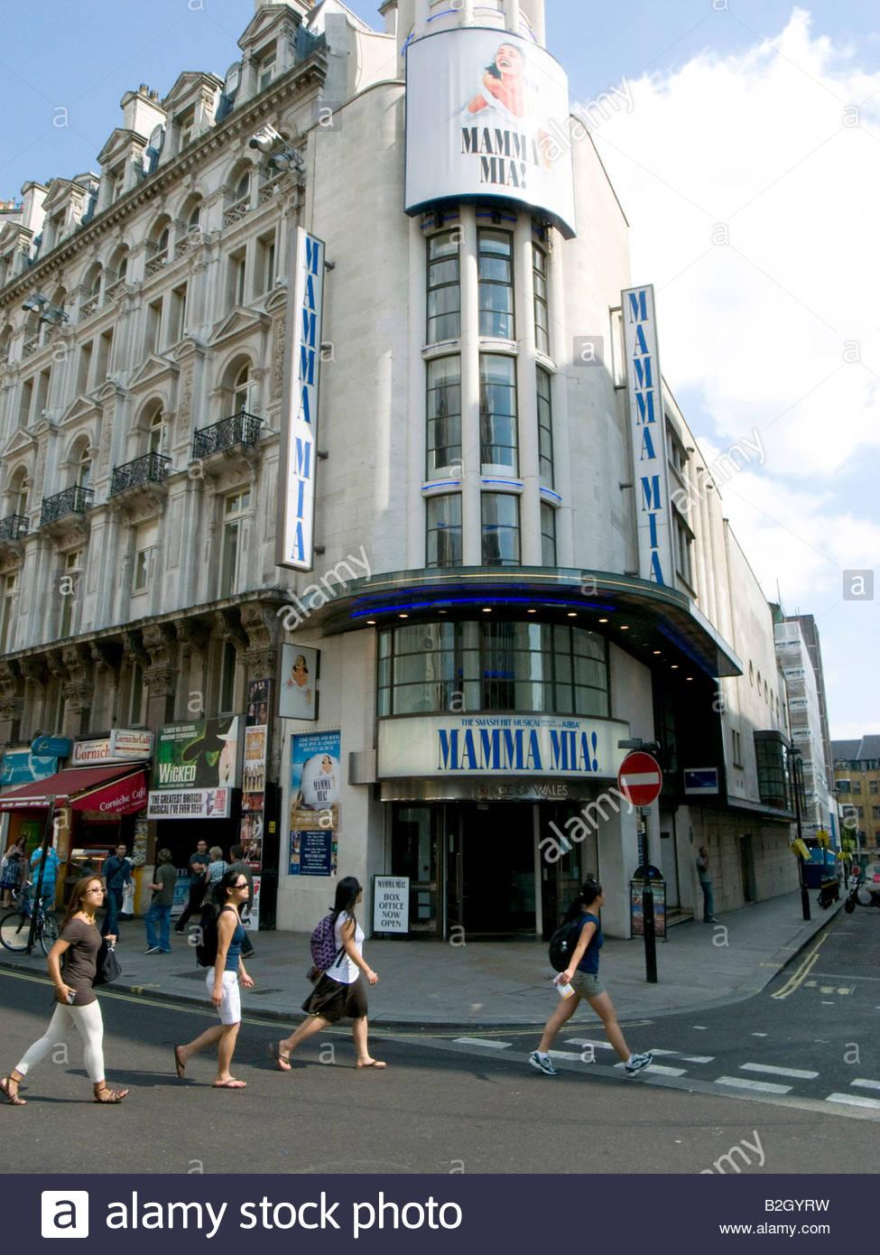 Women crossing the street in London West End - Stock Image