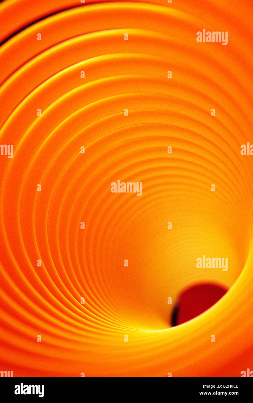 Abstract close up view of a 'Slinky' toy - Stock Image