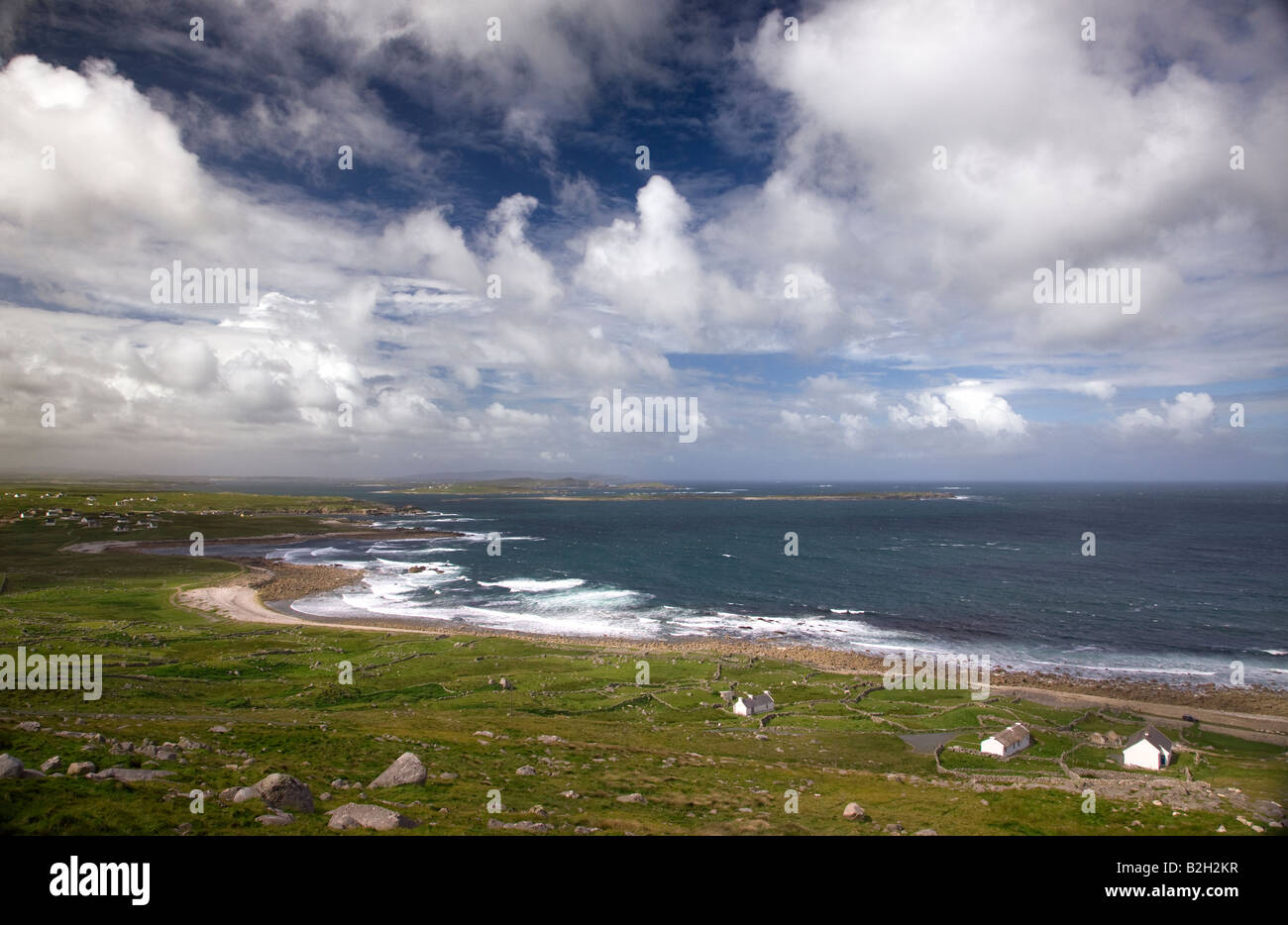 Donegal coast from Foreland Heights Ireland - Stock Image