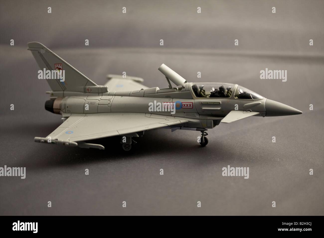 Model of Typhoon Eurofigher made by Corgi - Stock Image