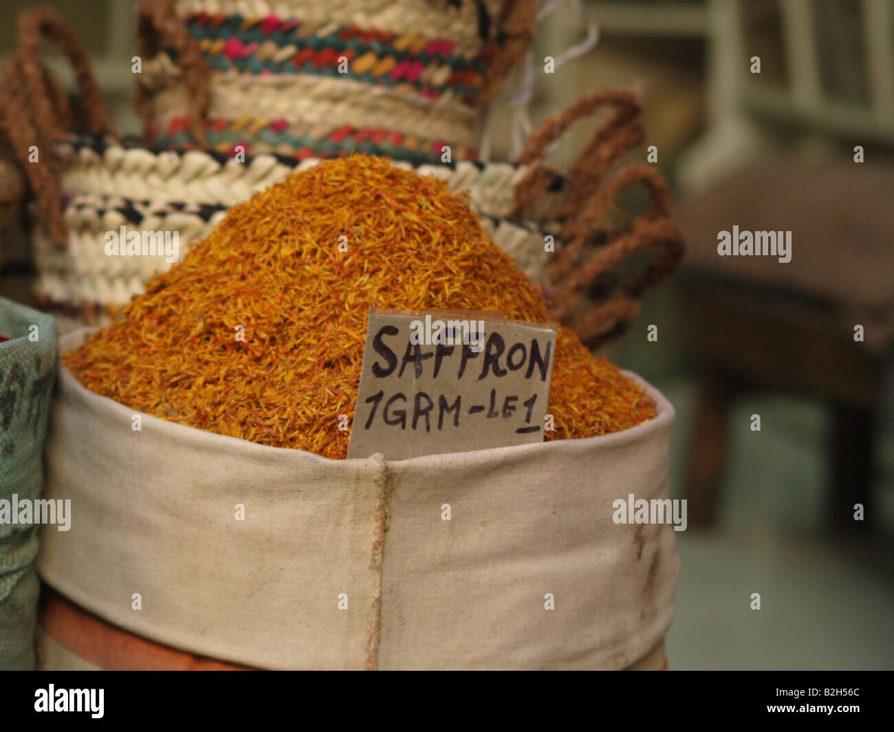 Spices for sale at an Egyptian bazaar in Luxor - Stock Image