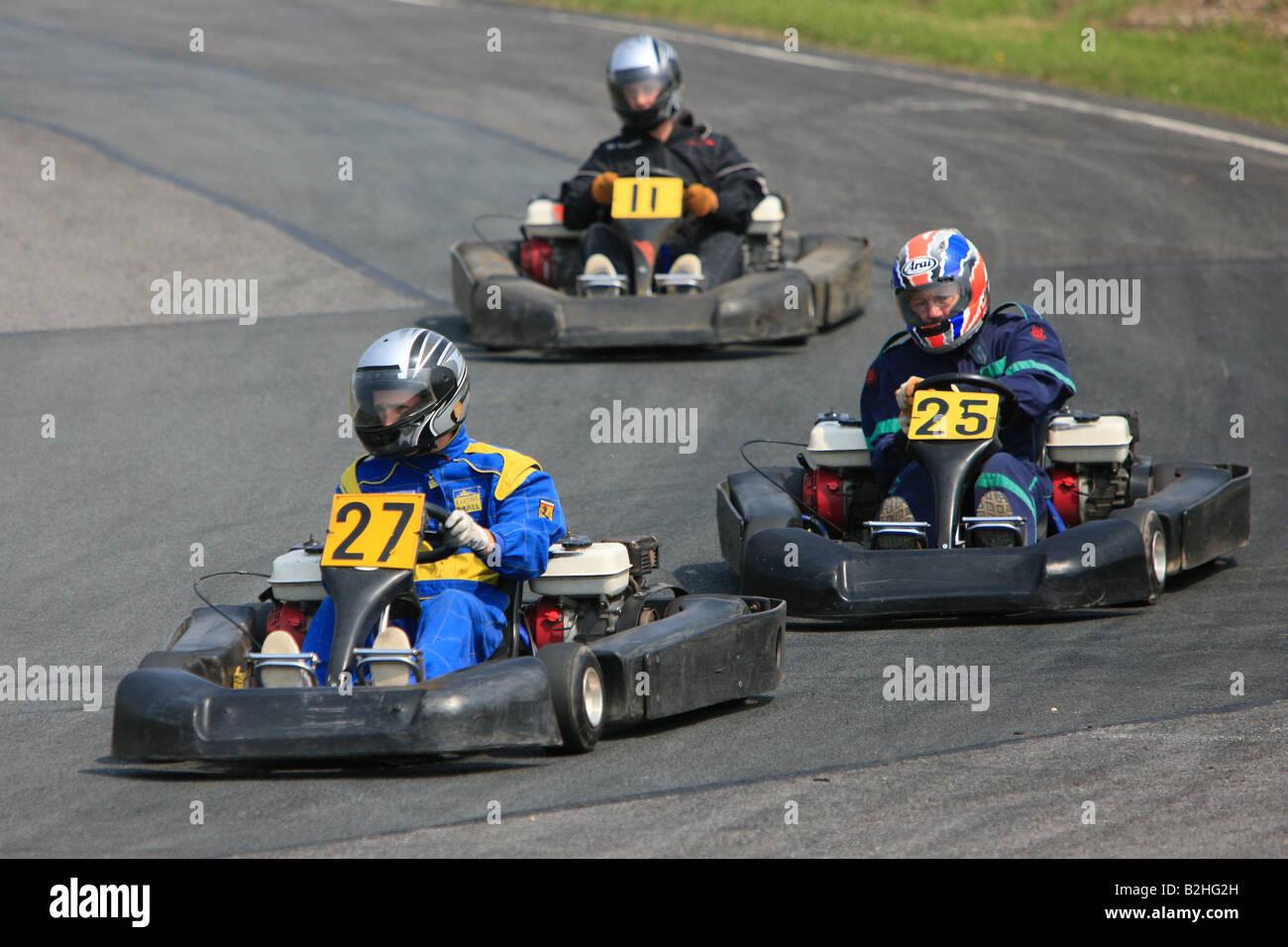 Karting at South Bank Motorsports Park Middlesbrough - Stock Image