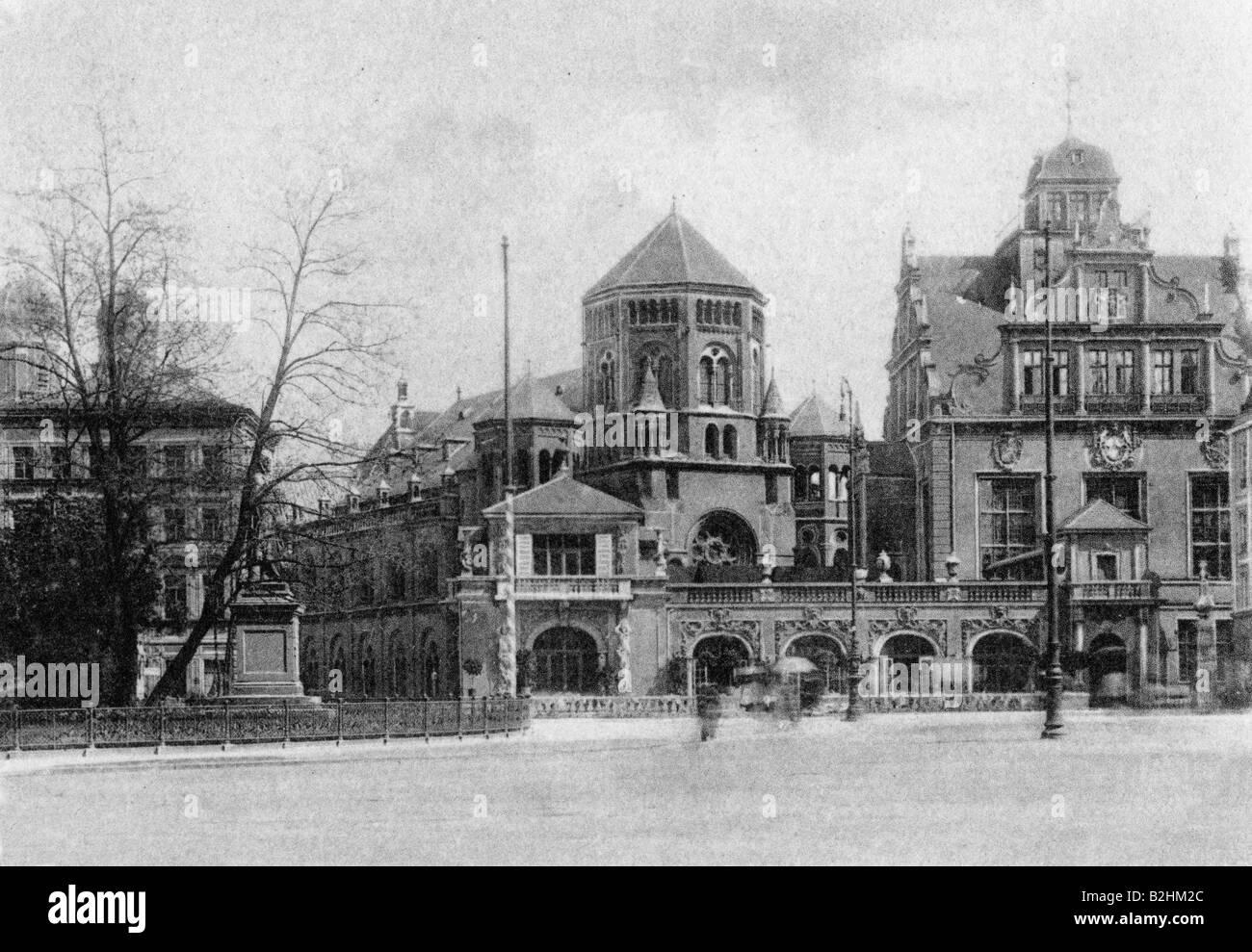 geography/travel, Germany, Munich, Künstlerhaus at Lenbachplatz, built 1893 - 1900, architect: Gabriel von - Stock Image