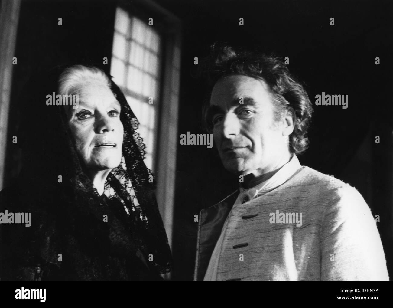 "Pekny, Romuald, 1.7.1920 - 9.11.2007, Austrian actor, half length, with Elisabeth Flickenschildt, in ""The Misanthrope"", Stock Photo"