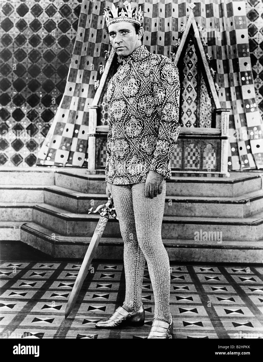 Burton, Richard, 10.11.1925 - 5.8.1984, British actor, full length, in play 'Camelot', 1960, Additional - Stock Image