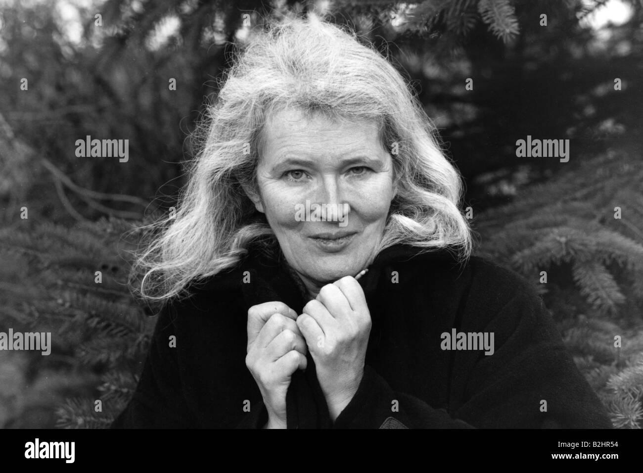 Carter, Angela, (birth name Angela Olive Stalker), 7.5.1940 - 16.2.1992, British author / writer, portrait, 1984, - Stock Image