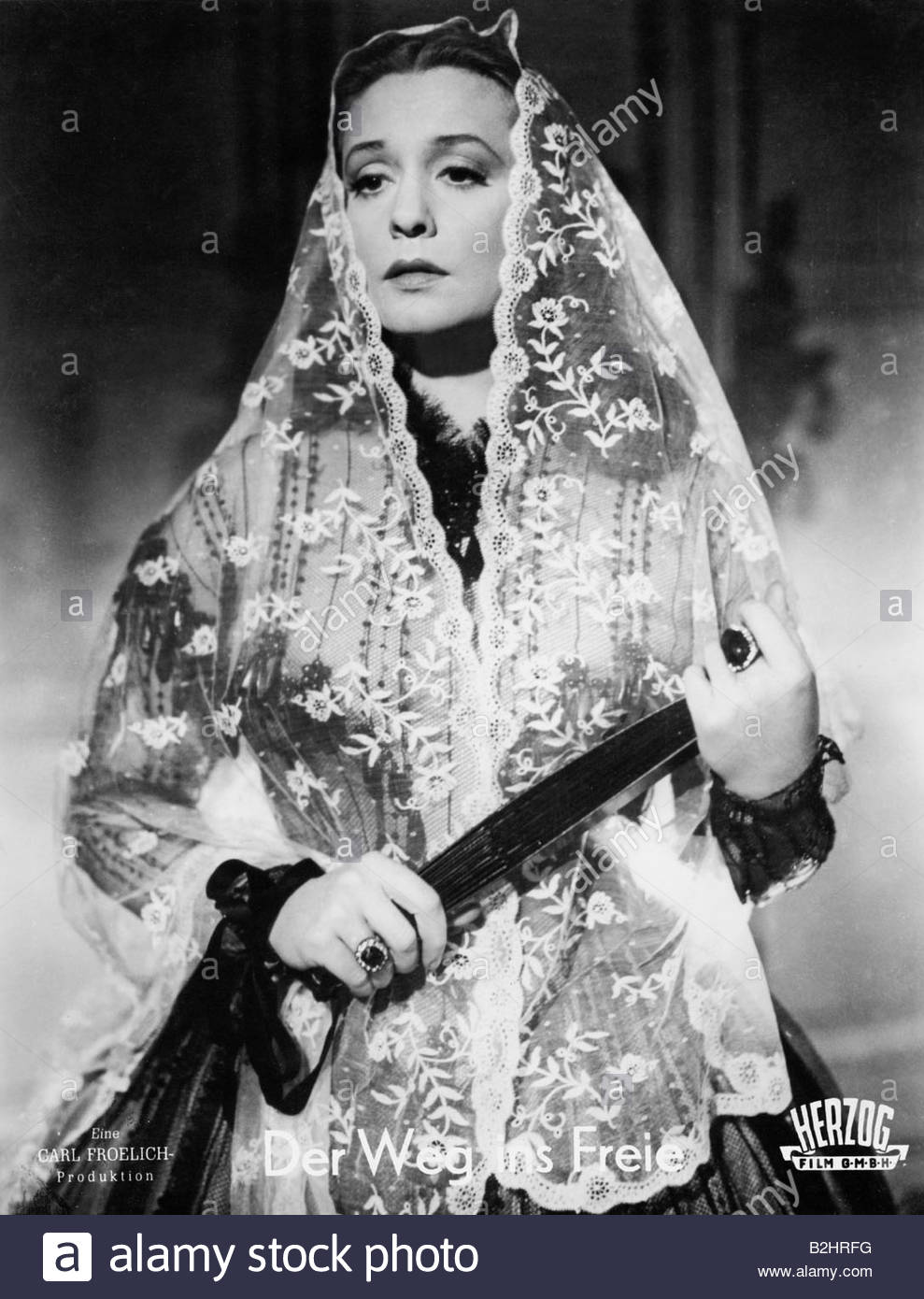 Leander, Zarah, 15.3.1907 - 23.6.1981, Swedish actress and singer, half length, scene from movie 'The Way to - Stock Image