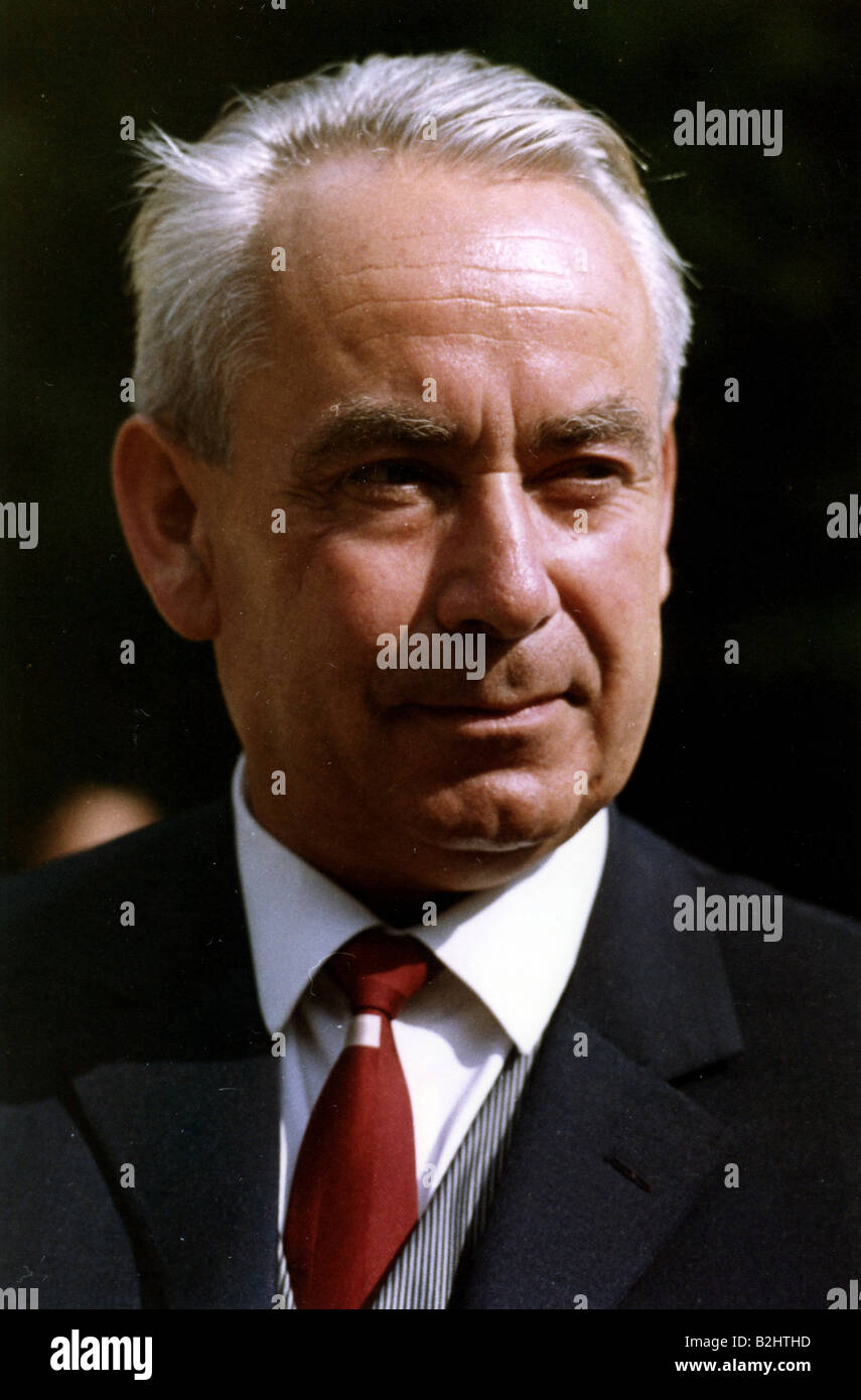 Heck, Bruno, 20.1.1917 - 16.9.1989, German politician (CDU), Federal Minister for Family Affairs 12.12.1962 - 1.10.1968, - Stock Image