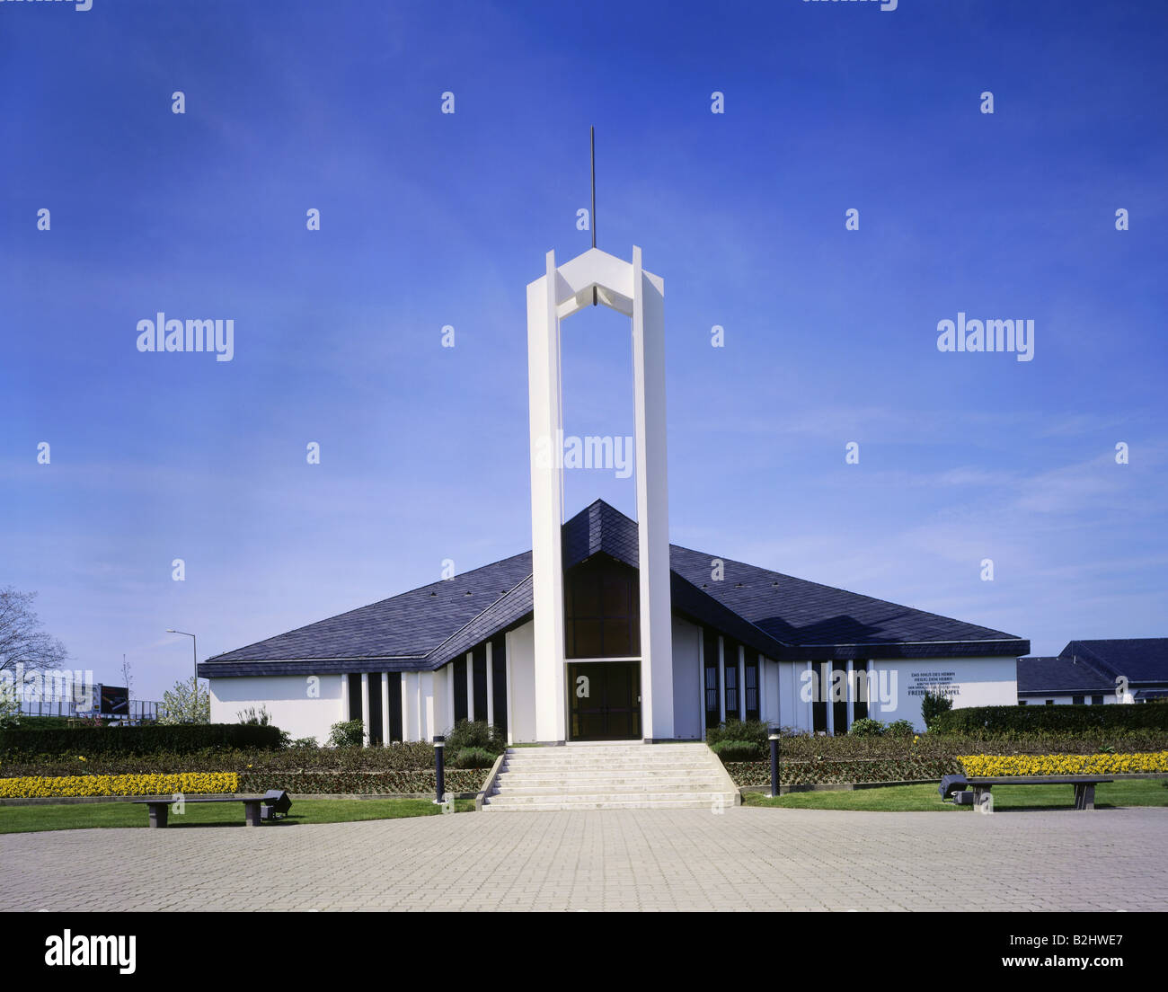 geography / travel, Germany, Saxony, Freiberg, Mormon temple, church, religion - Stock Image