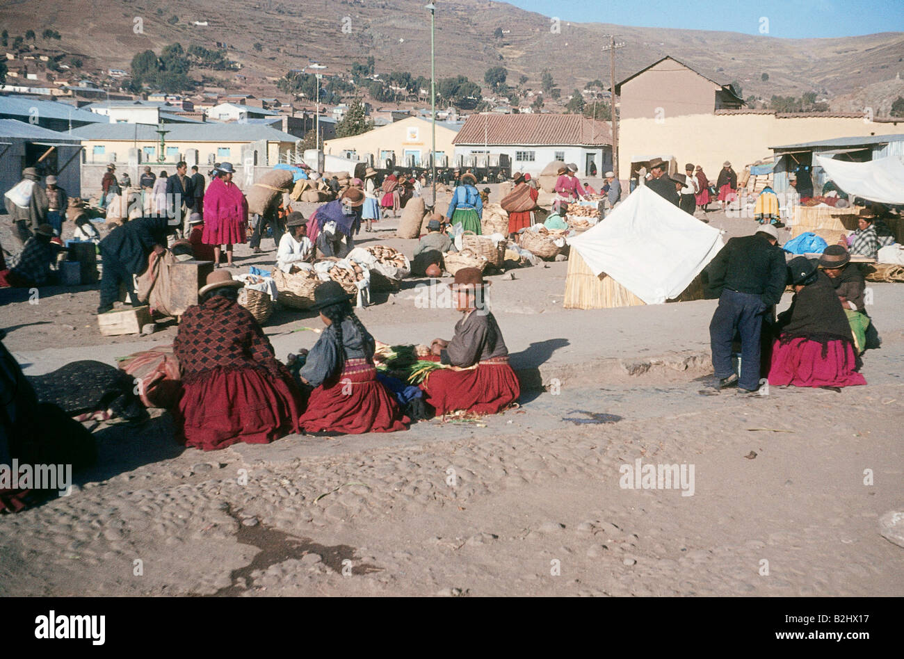 geography / travel, Peru, Puno, markets, Indian Market, 1964, Additional-Rights-Clearances-NA - Stock Image