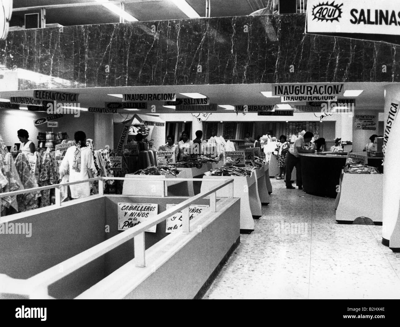 geography / travel, Mexico, trade, shopping mall in Monterrey, 1971, Additional-Rights-Clearances-NA - Stock Image