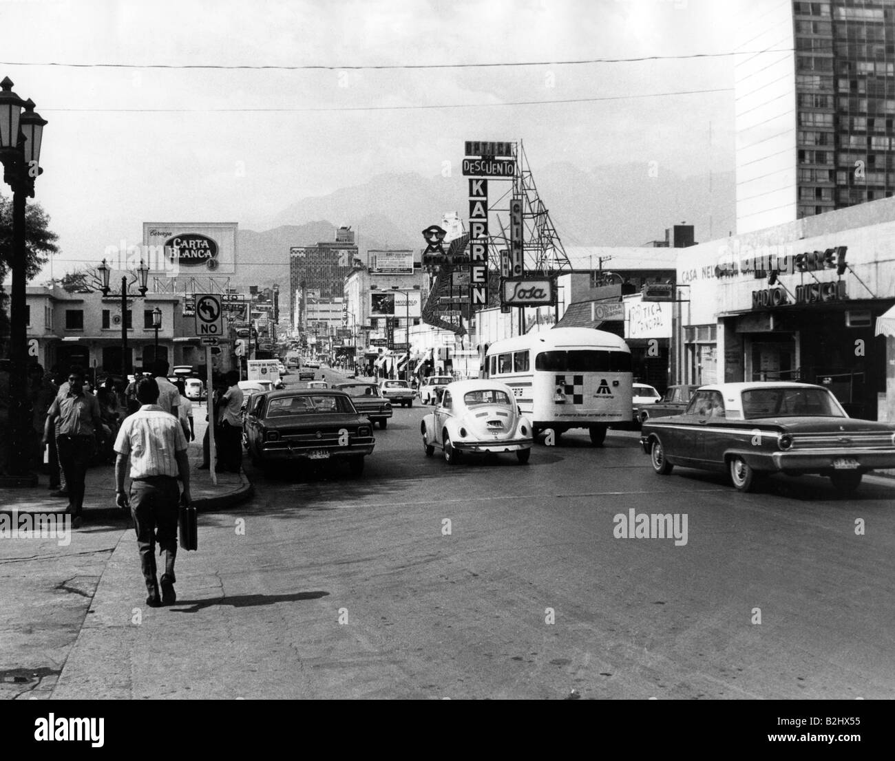 geography / travel, Mexico, Monterrey, street scenes, 1971, Additional-Rights-Clearances-NA - Stock Image