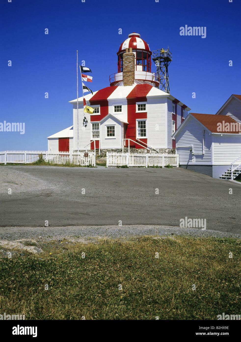 geography / travel, Canada, Newfoundland, Bonavista Peninsula, lighthouse at the cape Bonavista, - Stock Image