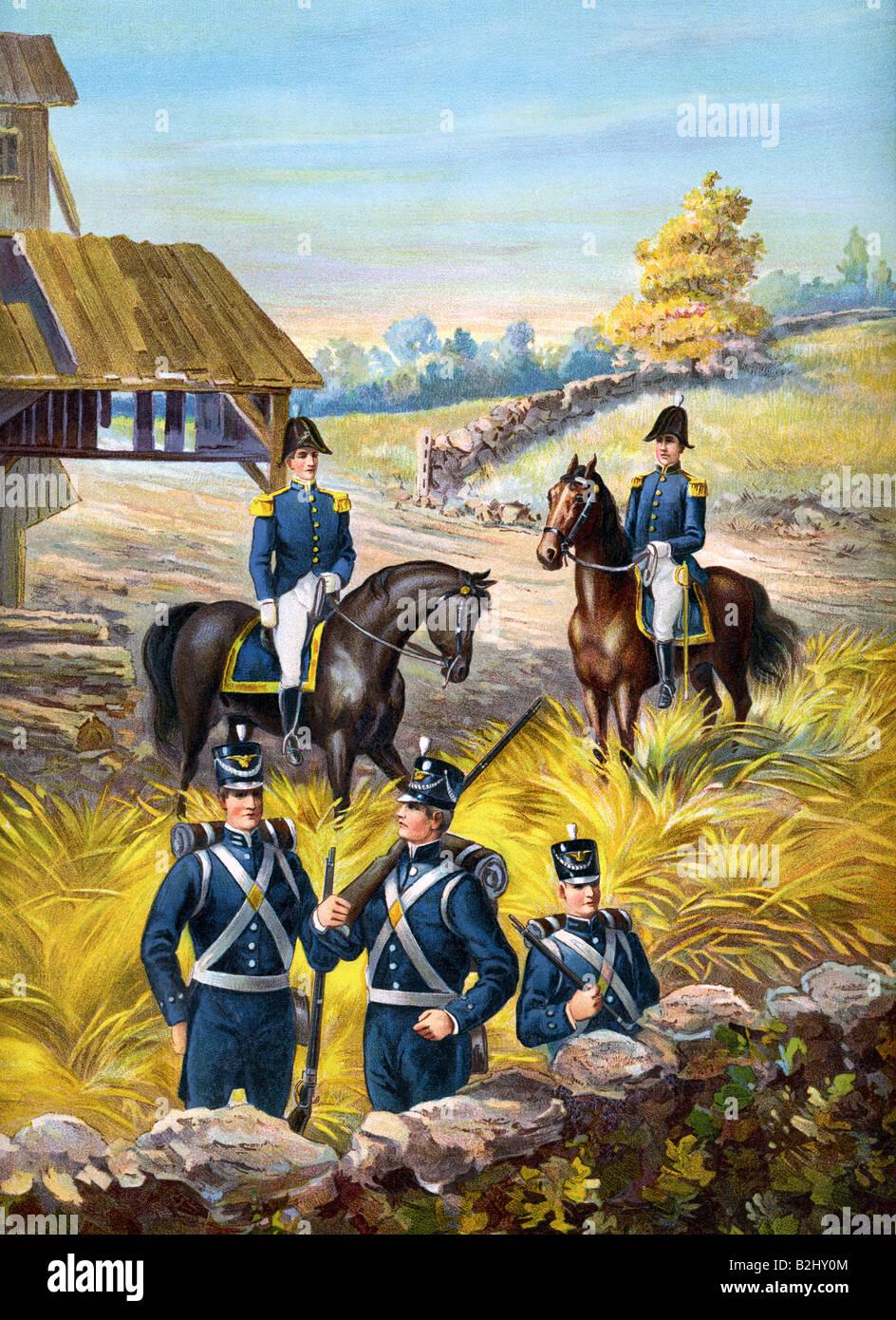 U.S. Army 1813-1821 - Stock Image