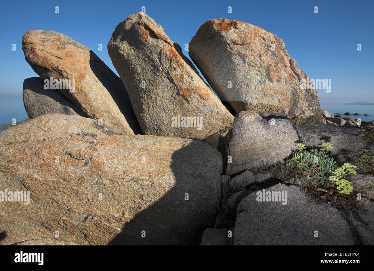 rock formation Sardinia Italy Stock Photo