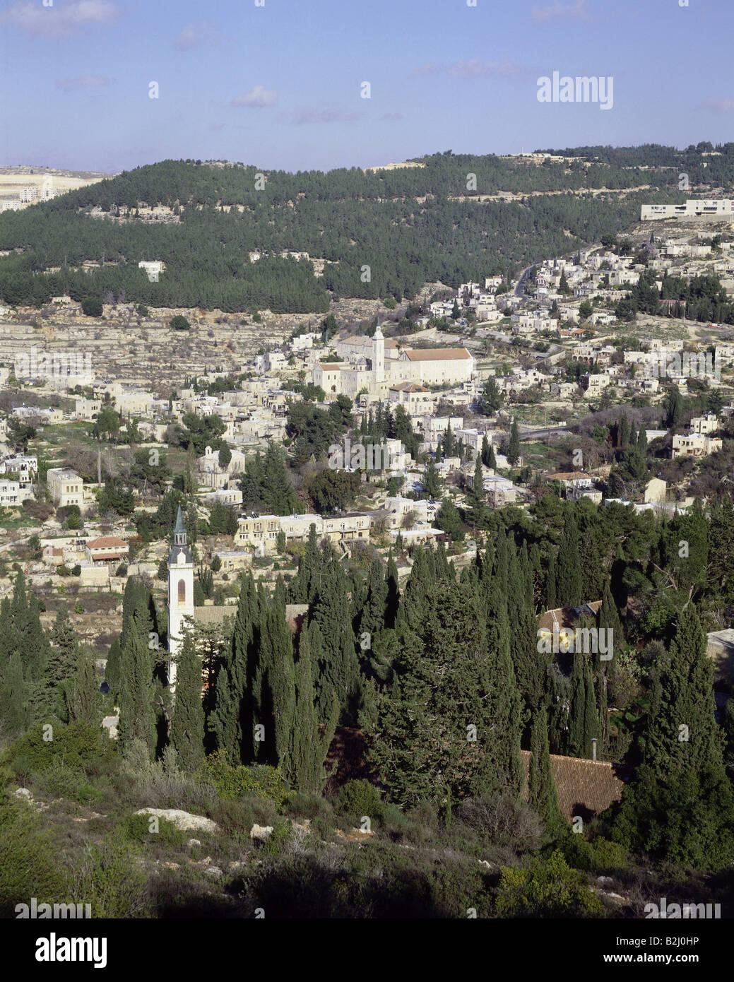 geography / travel, Israel, Jerusalem, overviews, Ein Karem, overview, view, Ayn Karim, - Stock Image
