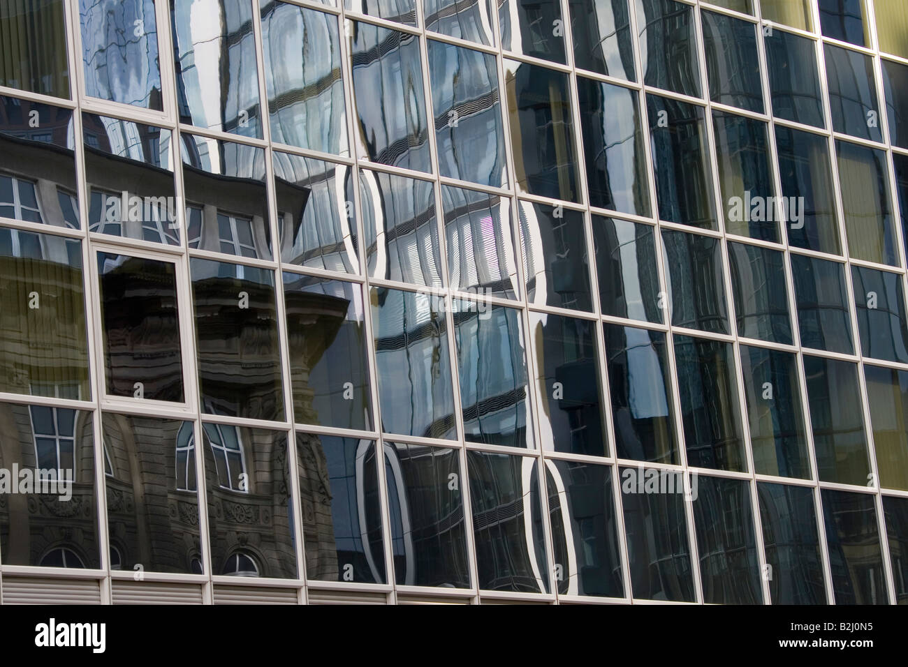 banking housees business district financial metropolis frankfurt am main - Stock Image