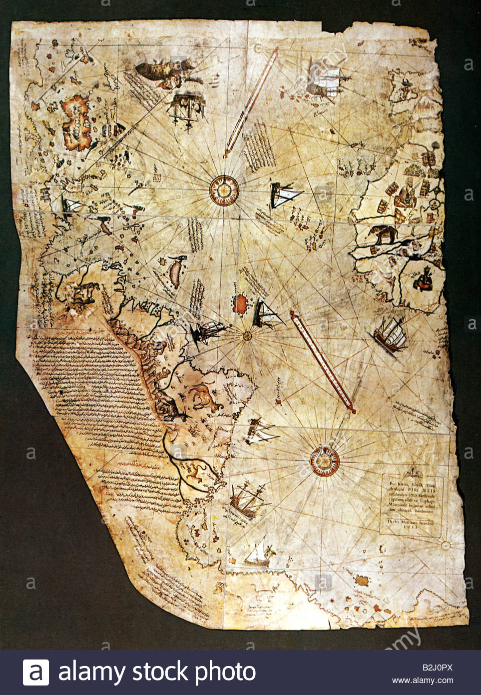 Maps atlantic ocean first world map of piri reis 1513 topkapi maps atlantic ocean first world map of piri reis 1513 topkapi palace america africa atlantic ocean the caribbean battl gumiabroncs Image collections