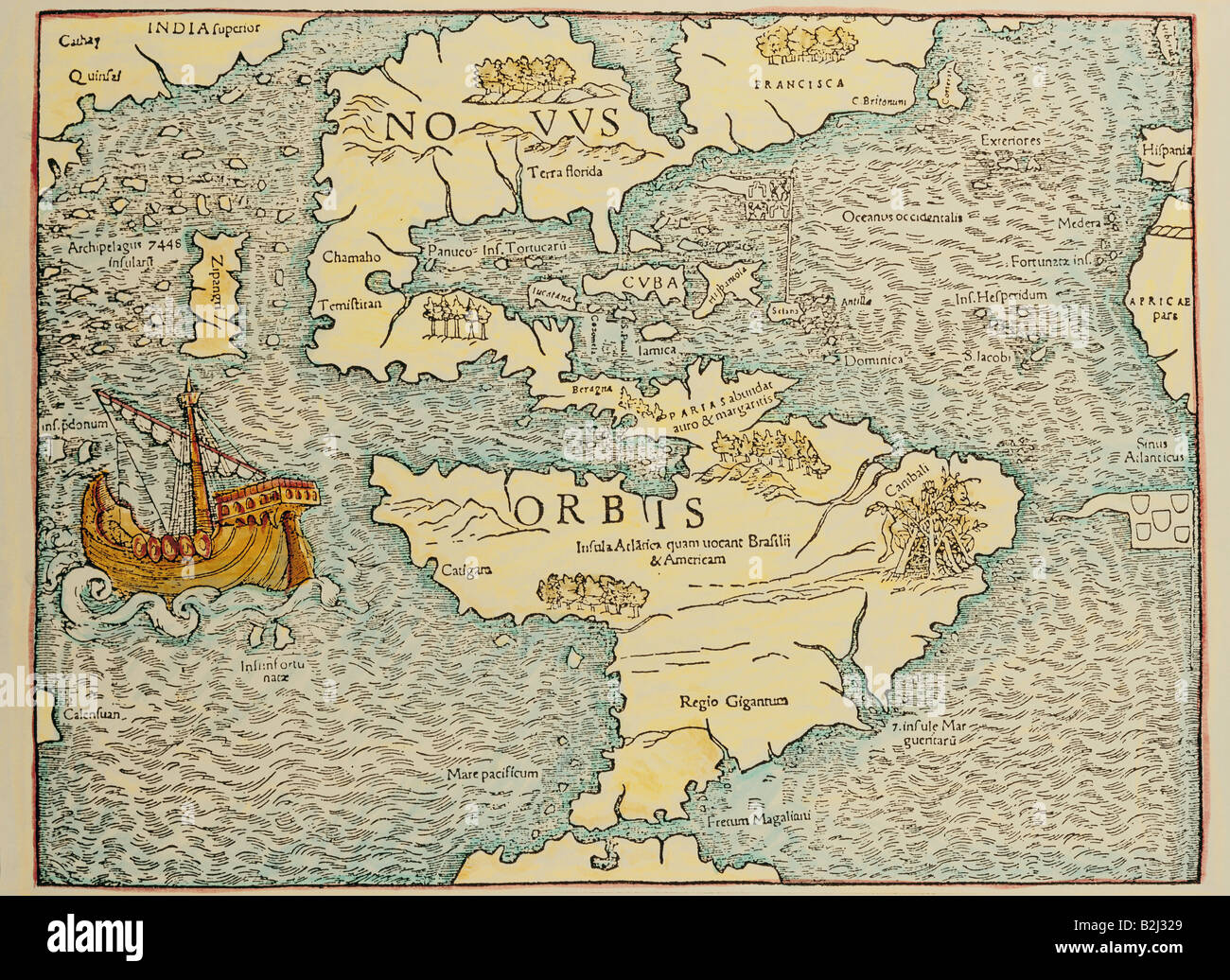 Cartography Maps South And North America Atlantic Pacific Ocean Stock Photo Alamy