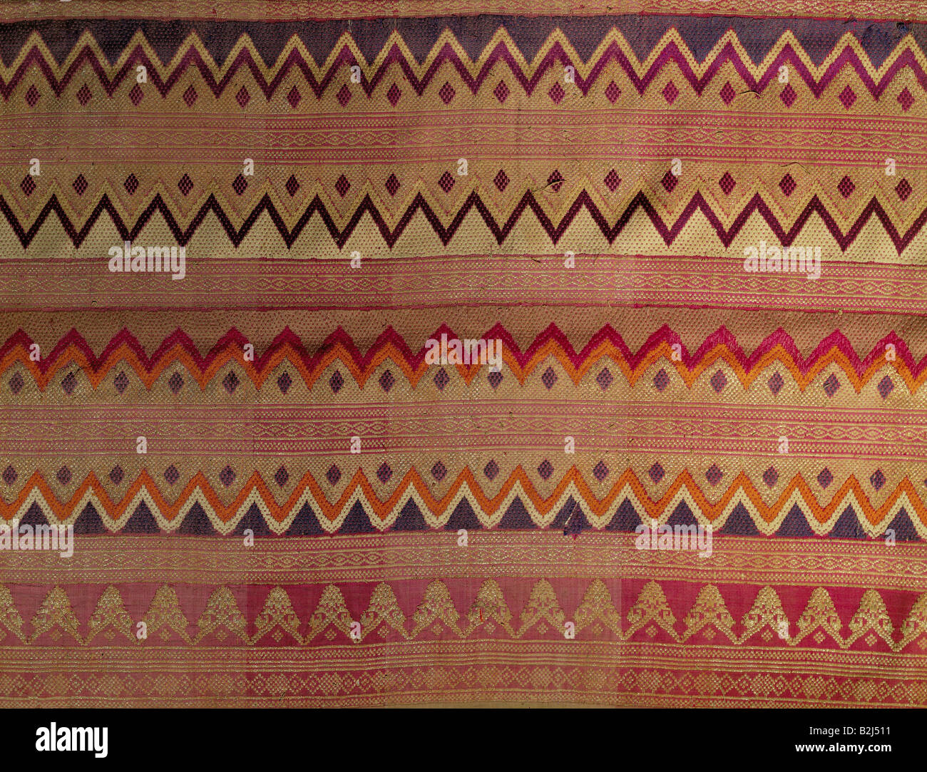 textile / fabric, brocade weaving, Indonesia, Schwaebisches Textilmuseum (Swabian Textile Museum), Mindelheim, historic, Stock Photo