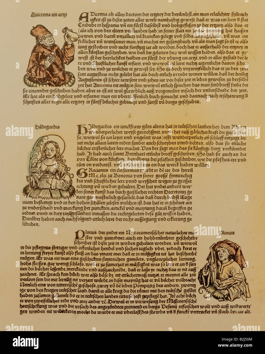 science, historiy, books, 'World Chronicle' of Hartmann Schedel, printed by Anton Korberger, Nuremberg, - Stock Image