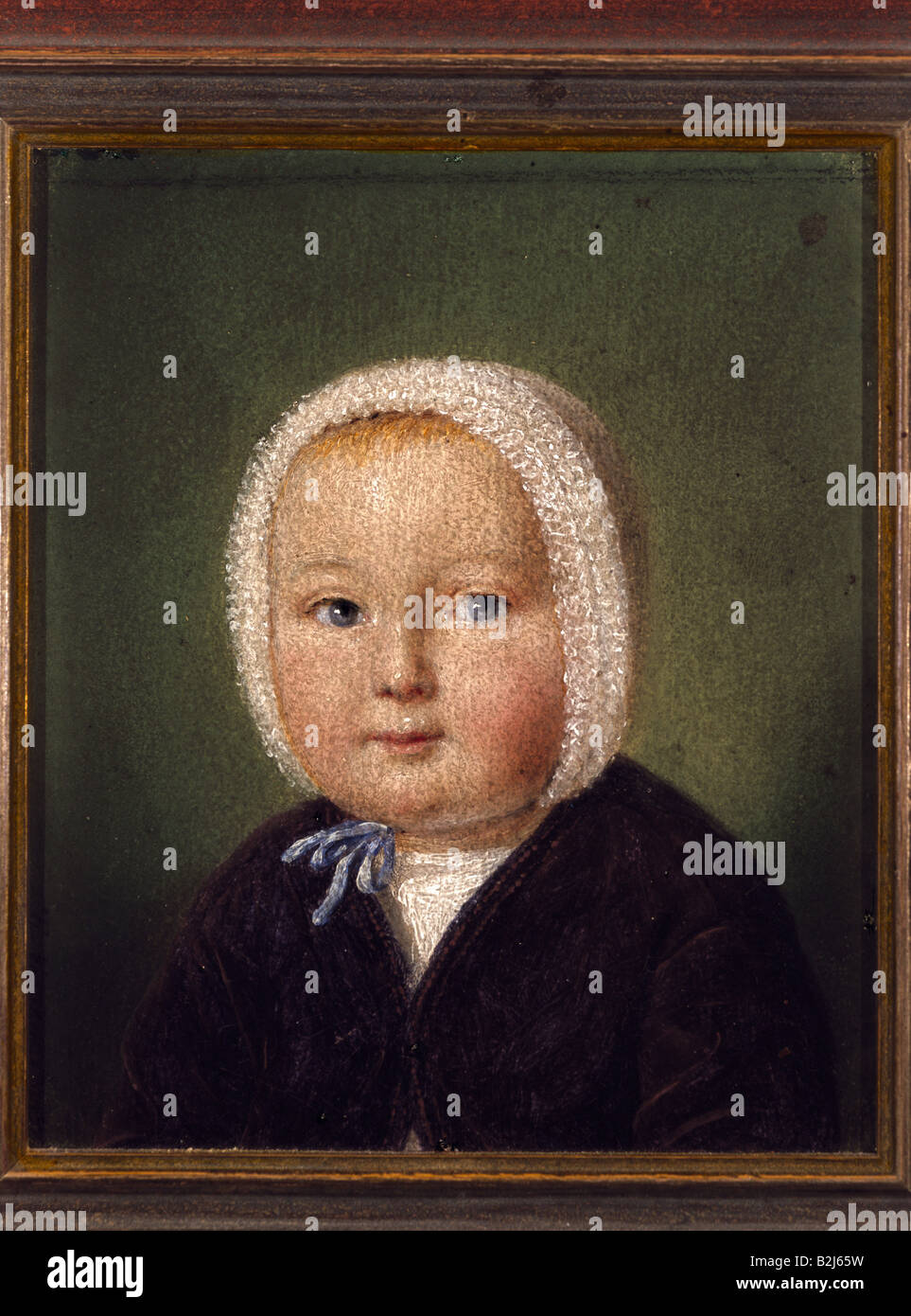 child / children, babies, 'Marie Breuer from Juelich', portrait, 11 cm x 13.3 cm, Germany, circa 1840, private - Stock Image