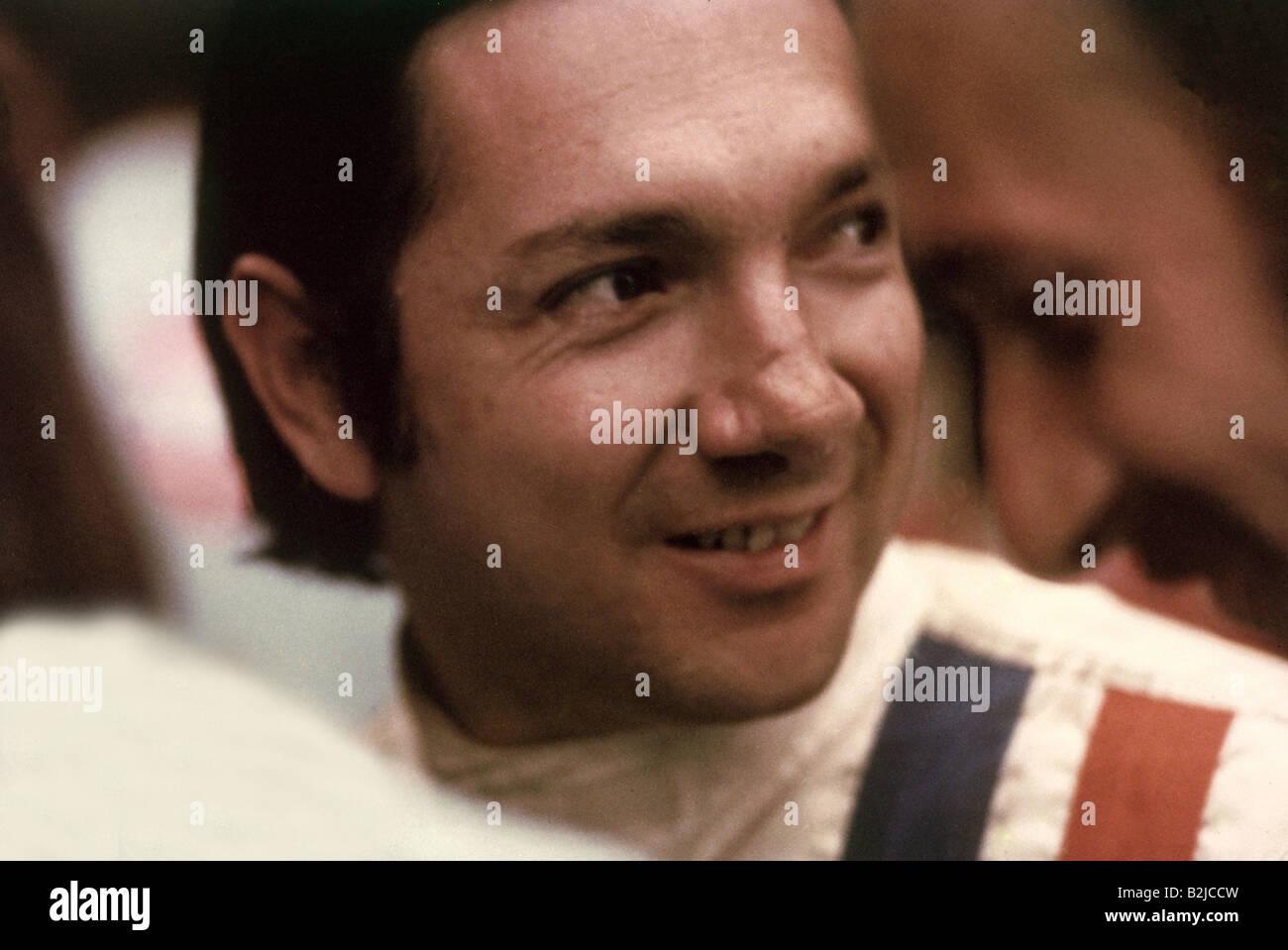 Rodriguez, Pedro, 18.1.1940 - 11.7.1971, Mexican athlete, ( automobile racer), portrait, motor-racing circuit, Monza, - Stock Image