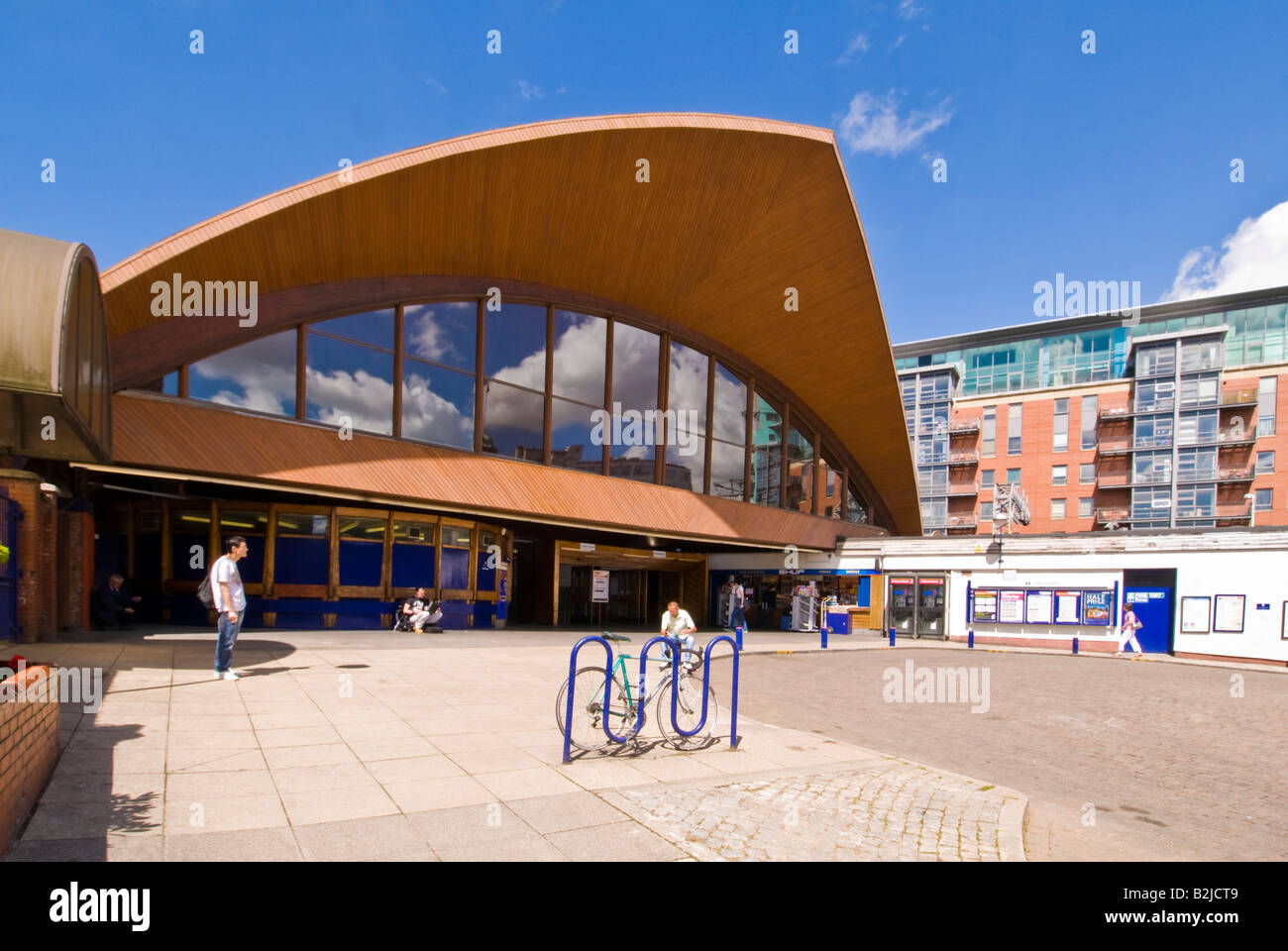 Manchester Oxford Road Railway Station entrance, England, UK - Stock Image