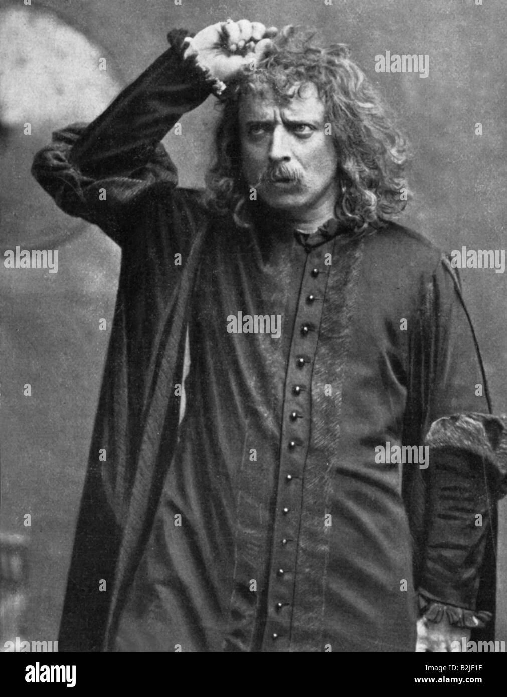 Zacconi, Ermete, 14.9.1857 - 14.10.1948, Italian actor, half length, in role of Hamlet, by William Shakespeare, - Stock Image