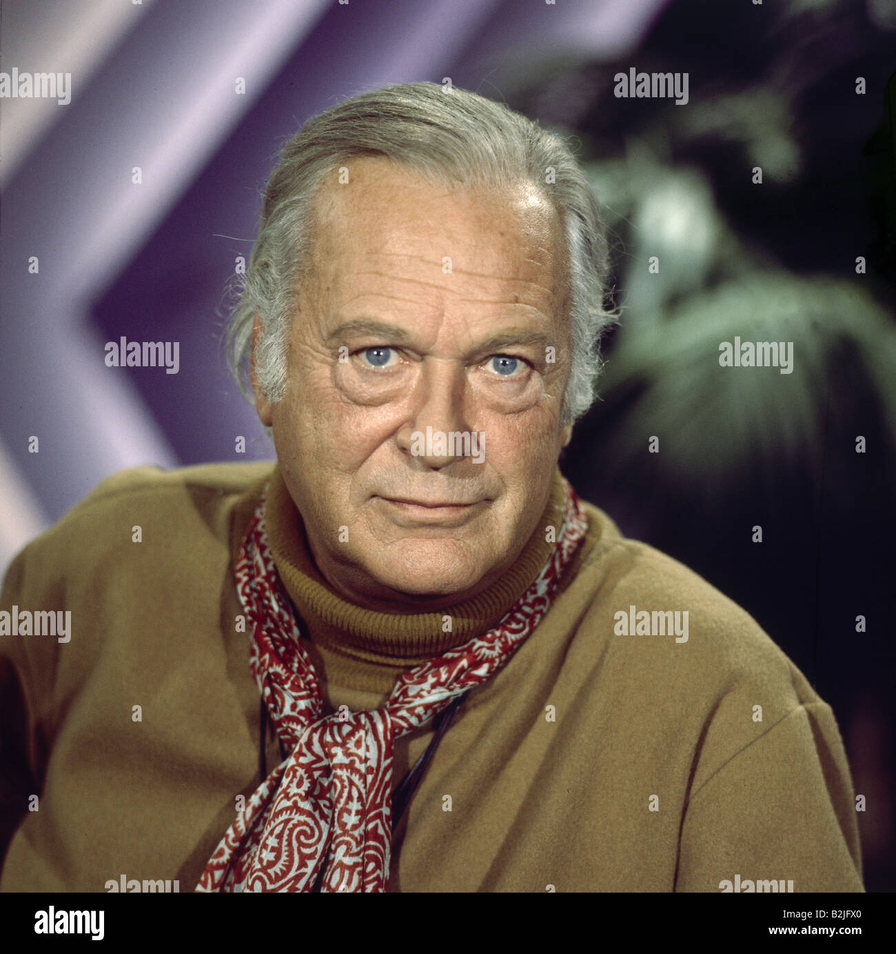 Juergens, Curd, 13.12.1915 - 18.6.1982, German actor, portrait, to tv broadcast 'Just a Gigolo', ARD, 11.10.1982, - Stock Image