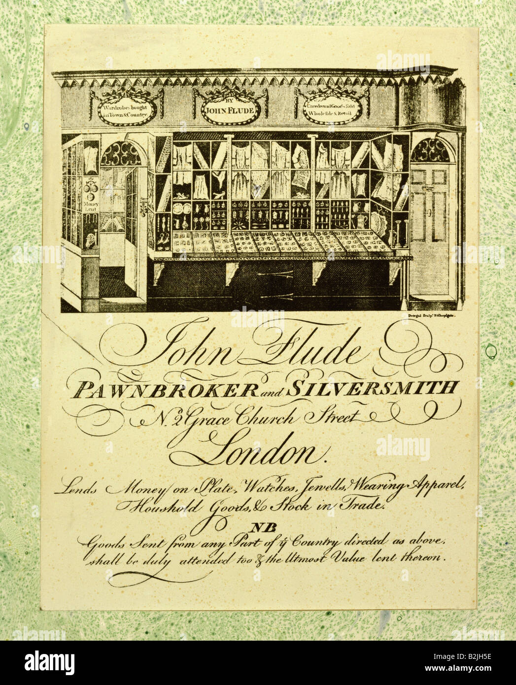 Advertising Business Cards Advertising Card Of John Flude Stock